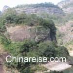 Wuyishan Berge mit dem Fluss der Neun Windungen