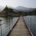Brücke zur Insel im Himmelssee