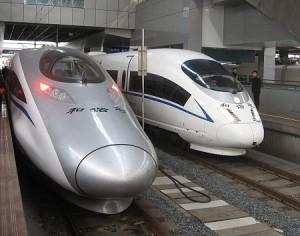 Hochgeschwindigkeitszug in Shanghai