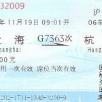Bahnticket für den Highspeedzug