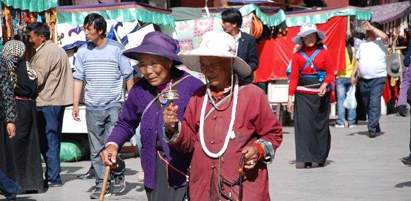 Tibeter in Lhasa