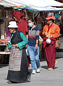 Tibeter in Lhasa