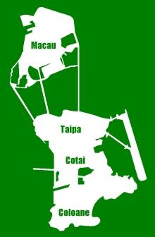 Macau Stadtteile: Macau, Taipa, Cotai & Coloane