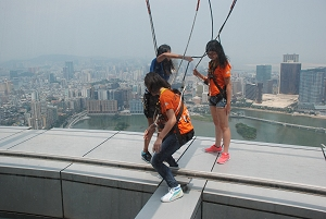 Skywalk X auf Macau Tower