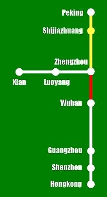 Hochgeschwindigkeitsstrecken in China