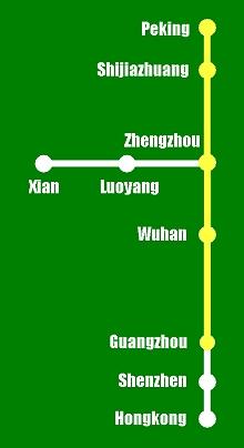 Hochgeschwindigkeitsstrecke Peking-Guangzhou