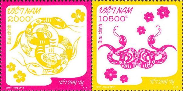 Sondermarke zum Jahr der Schlange, Vietnam