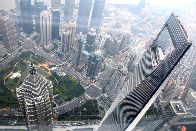Blick aus Shanghai Tower