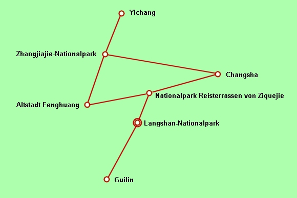 Anreise zum Langshan-Nationalpark