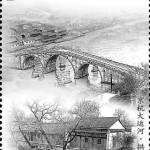 Kaiserkanal: Die Gongchen-Brücke in Hangzhou, Zhejiang