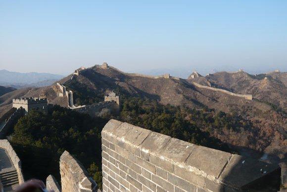 Die Chinesische Große Mauer bei Peking