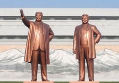Monumente auf dem Mansudae-Hügel in Pyongyang