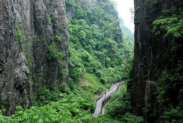Enshi Grand Canyon: Schlucht in Qixingzhai