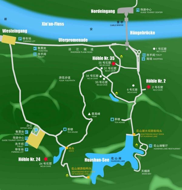 Reisekarte Huashanmiku