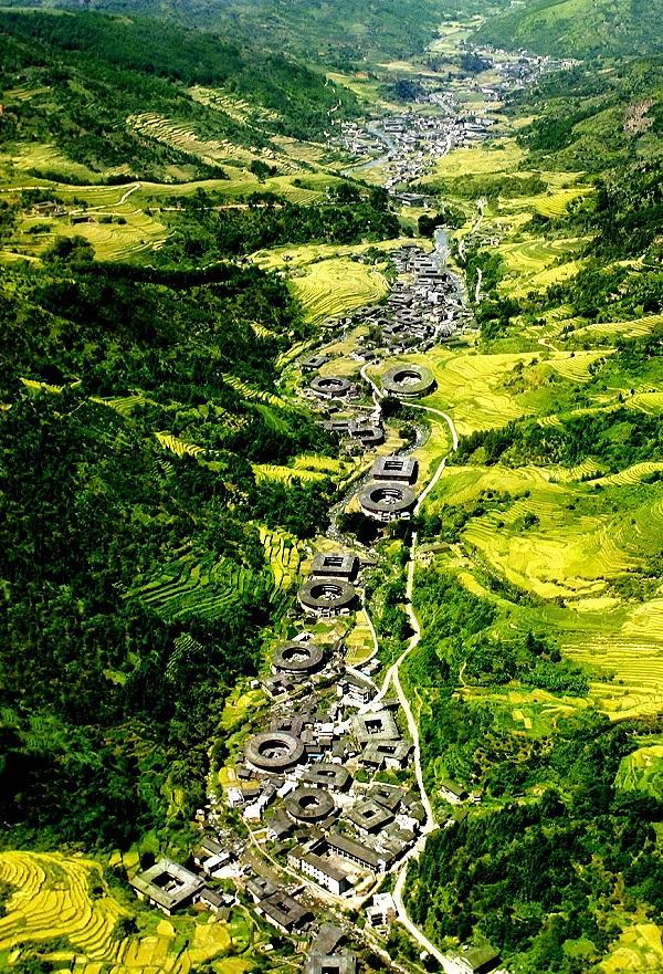 Nanxi Tulou-Gruppe in Yongdin