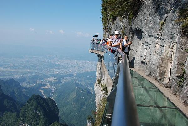 Pfad des Vertrauens im Tianmenshan Nationalpark in Zhangjiajie