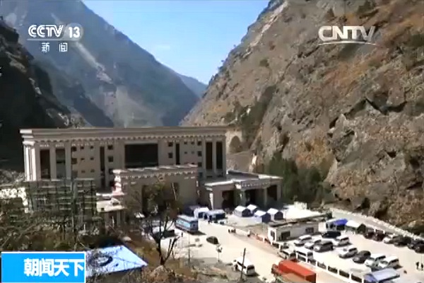 Tibet-Nepal-Grenzübergang zwischen Kyirong und Rasuwa