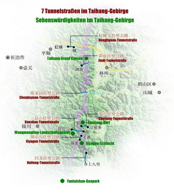 Höhepunkte im Taihang-Gebirge