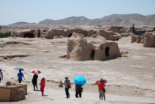 Seidenstraße: Ruinenstadt Jiaohe in Turfan