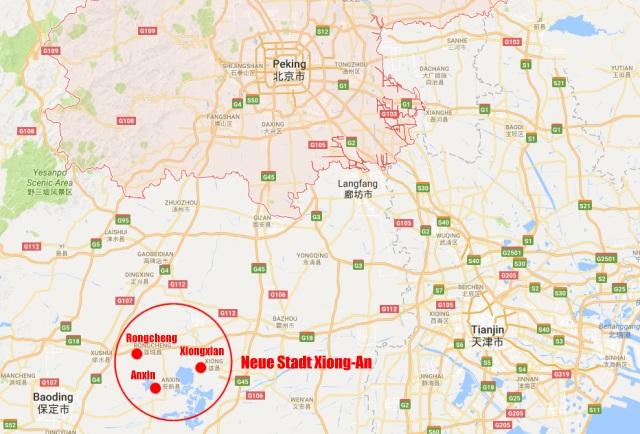 Neue Stadt Xiong-An bei Peking