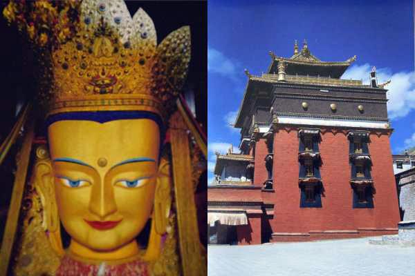 Maitreya-Buddha im Tashilhunpo-Kloster