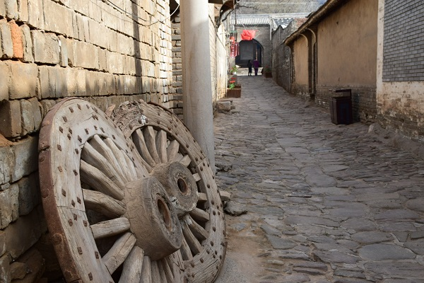 Gasse im Dorf Dangjiacun