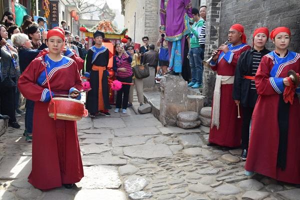 Heiratsfeier im Dorf Dangjiacun